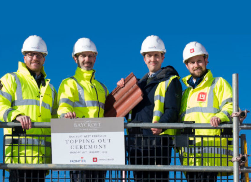 Topping out ceremony at Frontier's Kempston development marks construction milestone